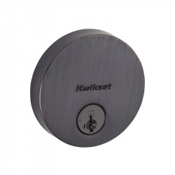 Kwikset 258 RDT Uptown Low Profile Round Contemporary Deadbolt