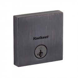Kwikset 258 SQT Downtown Low Profile Square Contemporary Deadbolt