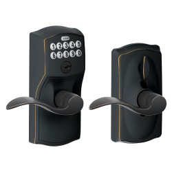 Schlage Camelot Keypad Entry Lock with Accent Lever and Flex Lock