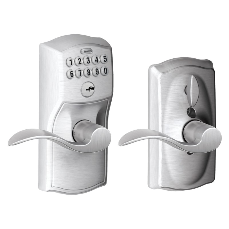 Schlage Camelot Keypad Entry Lock With Accent Lever And