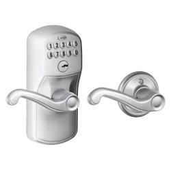 Schlage FE575 Plymouth Keypad Entry Auto-Lock with Flair Lever