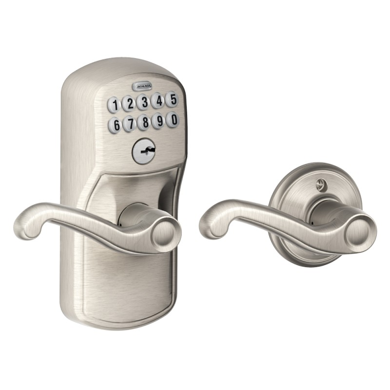 Schlage Fe575 Plymouth Keypad Entry Auto Lock With Flair Lever