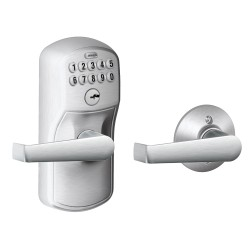 Schlage FE575 Plymouth Keypad Entry Auto-Lock with Elan Lever Satin Chrome