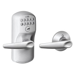 Schlage FE575 Plymouth Keypad Entry Auto-Lock with Jazz Lever
