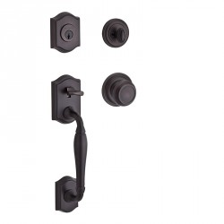 Baldwin Reserve Westcliff Handleset - Traditional Knob, Traditional Round Rose