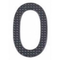 """A'dor 3"""" House Number 0 Black"""