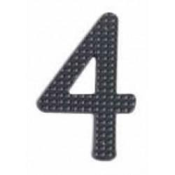 """A'dor 3"""" House Number 4 Black"""