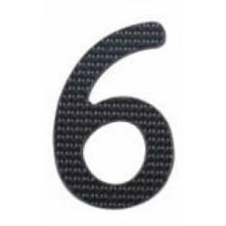 """A'dor 3"""" House Number 6 Black"""
