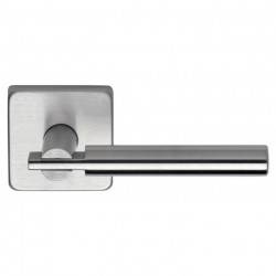 Omnia 25S-00 Modern Apartment Stainless Steel Lever with Square Rose