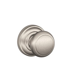 Schlage Residential F10 AND 619 AND Andover Door Knob with Andover Decorative Rose