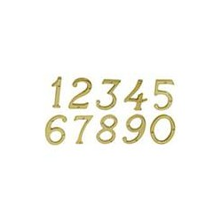 "Ives 30X6 4"" Classic House Number Brass"
