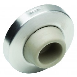 Ives 406/407CCV Wall Stop With Plastic Anchor Concave Rubber