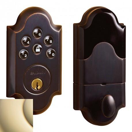 Details Baldwin Hardware Estate Series 8252 Boulder Keyless Entry Deadbolt