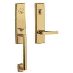 Baldwin Entrance Door Hardware Estate Series 85387 Soho Escutcheon Handleset