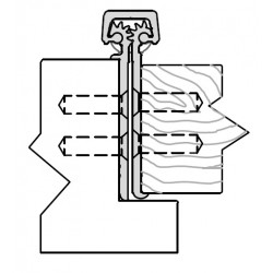 "ABH A240 Aluminum Continuous Geared Hinges Fully Concealed 3/32"" Inset w/ Door Lip Protector"