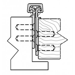 ABH A260 Aluminum Continuous Geared Hinges Fully Concealed For Lead-Lined Doors