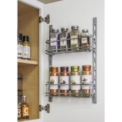 """Hardware Resources 3"""" Deep Door Mounted Tray System Kit in Polished Chrome"""