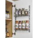 Hardware Resources DMS3-PC-R Door Mounted Tray System Kit in Polished Chrome