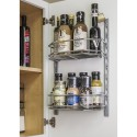 Hardware Resources DMS6-PC-R Door Mounted Tray System Kit in Polished Chrome