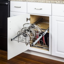 """Hardware Resources Pots and Pan Lid Pullout Organizer for 15"""" Base Cabinet (Retail Packaged)"""