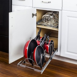 """Hardware Resources Pots and Pans Pullout Organizer for 15"""" Base Cabinet. Retail Packaged."""