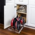 """Hardware Resources MPP0215-R Pots and Pans Pullout Organizer for 15"""" Base Cabinet, Retail Packaged."""