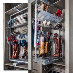 "Hardware Resources 61"" Rotating Shoe and Boot Rack for Closet System"