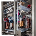 """Hardware Resources RSBR-5 61"""" Rotating Shoe and Boot Rack for Closet System"""