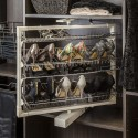 """Hardware Resources RSR-04 27.5"""" wire rotating shoe rack with 4 shelves"""