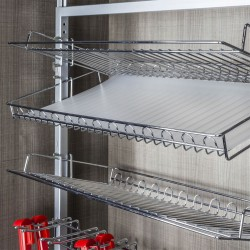 """Hardware Resources Rotating Shoe Rack Liner Matte Finished W26"""" x D13"""" .9mm Thickness"""