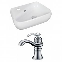 American Imaginations AI-15317 Unique Vessel Set In White Color With Single Hole CUPC Faucet