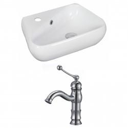 American Imaginations AI-15322 Unique Vessel Set In White Color With Single Hole CUPC Faucet