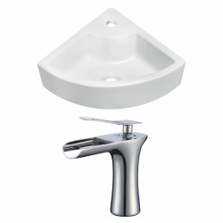 American Imaginations AI-17859 Unique Vessel Set In White Color With Single Hole CUPC Faucet