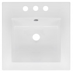 American Imaginations AI-1311 16.5-in. W x 16.5-in. D Ceramic Top In White Color For 4-in. o.c. Faucet