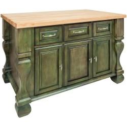 "Tuscan Jeffrey Alexander 52 5/8"" x 32 3/8"" x 35 1/4"" Furniture Style Island"