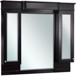 American Imaginations AI-40 50-in. W x 46-in. H Traditional Birch Wood-Veneer Wood Mirror In Dark Mahogany