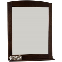 American Imaginations AI-71 24-in. W x 32-in. H Traditional Birch Wood-Veneer Wood Mirror In Walnut