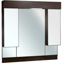 American Imaginations AI-121 45.5-in. W x 43-in. H Transitional Birch Wood-Veneer Wood Mirror
