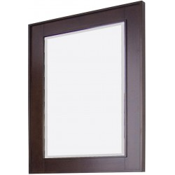 American Imaginations AI-271 32-in. W x 36-in. H Transitional Birch Wood-Veneer Wood Mirror In Tobacco