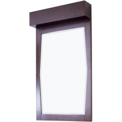 American Imaginations AI-276 22.55-in. W x 39-in. H Transitional Birch Wood-Veneer Wood Mirror In Walnut