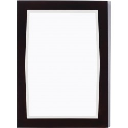 American Imaginations AI-400 24-in. W x 34-in. H Transitional Birch Wood-Veneer Wood Mirror In Antique Walnut