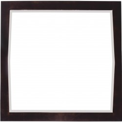 American Imaginations AI-401 34-in. W x 34-in. H Transitional Birch Wood-Veneer Wood Mirror In Antique Walnut