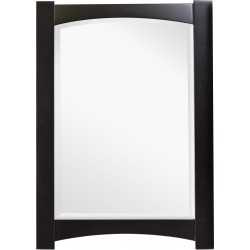 American Imaginations AI-1143 24-in. W x 34-in. H Transitional Birch Wood-Veneer Wood Mirror In Distressed Antique Walnut