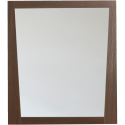American Imaginations AI-1184 29.5-in. W x 33.5-in. H Modern Plywood-Melamine Wood Mirror In Wenge