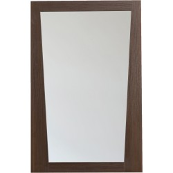 American Imaginations AI-1210 21.5-in. W x 33.5-in. H Modern Plywood-Melamine Wood Mirror In Wenge