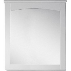 American Imaginations AI-17426 30-in. W x 31.5-in. H Modern Plywood-Veneer Wood Mirror In White