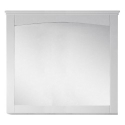 American Imaginations AI-17427 36-in. W x 31.5-in. H Modern Plywood-Veneer Wood Mirror In White