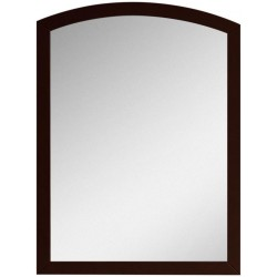 American Imaginations AI-18196 23.62-in. W x 31.5-in. H Modern Birch Wood-Veneer Wood Mirror In Coffee