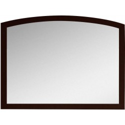 American Imaginations AI-18197 35.43-in. W x 25.6-in. H Modern Birch Wood-Veneer Wood Mirror In Coffee