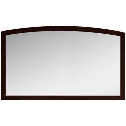 American Imaginations AI-18198 47.24-in. W x 25.6-in. H Modern Birch Wood-Veneer Wood Mirror In Coffee